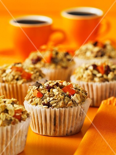 Muffins with nuts and dried fruit