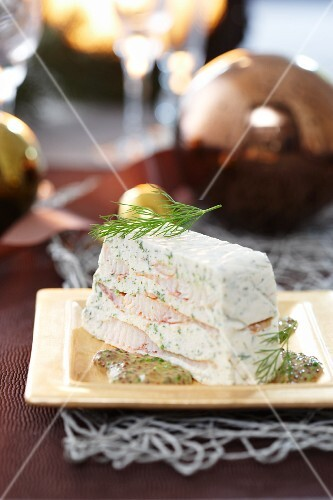 Trout terrine with a dill and mustard sauce