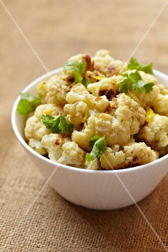 A Bowl of Baked Cauliflower