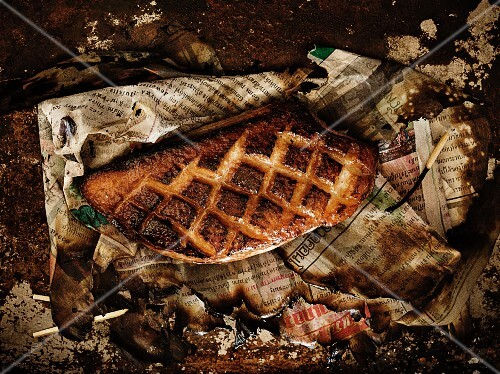 Seared Duck on Newspaper