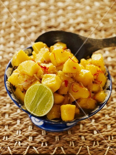 Pineapple relish with chilli and ginger