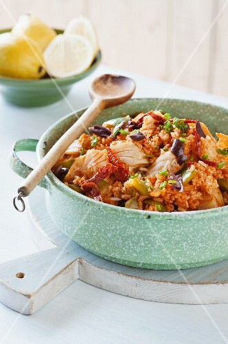 Bacalao with vegetable and rice (Portugal)