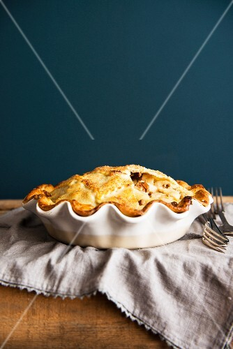Apple pie in the dish