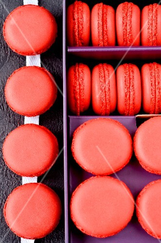 Macaroons in a gift box