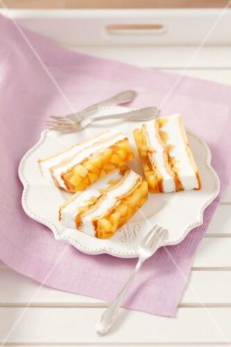 Apple and cream cheese terrine