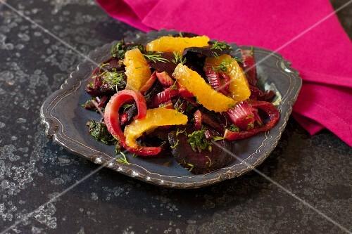 Roasted Beets, Fennel and Orange Salad