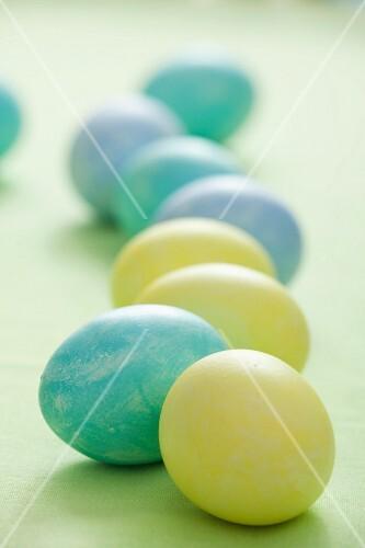 Pastel-coloured Easter eggs