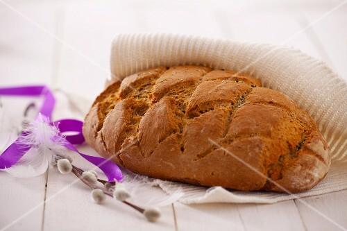 Homemade dark, rye bread