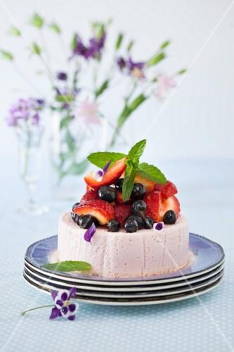 Strawberry Blueberry Yogurt Cake