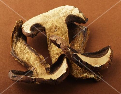 Dried, sliced porcini mushrooms