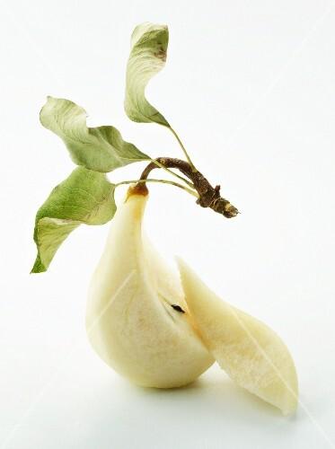 A peeled pear