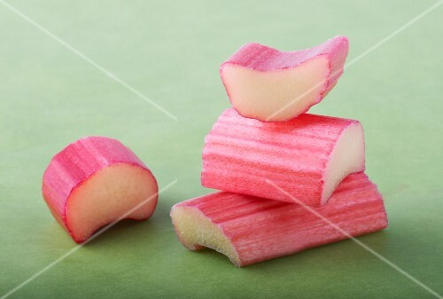 Pieces of rhubarb