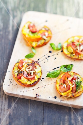 Chargrilled vegetable tartlets
