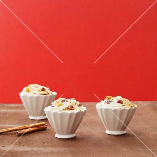 Spaghetti with rice pudding