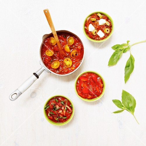 Assorted tomato sauces