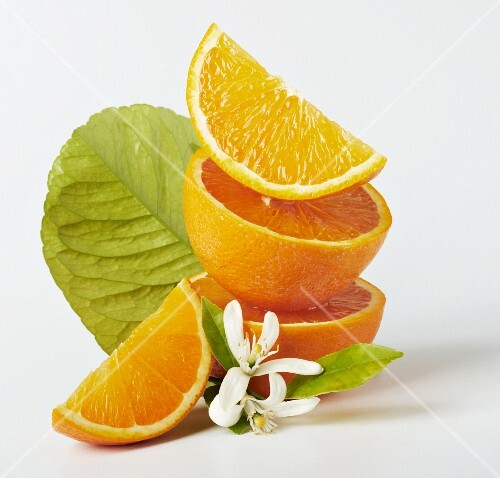 Oranges and orange flowers