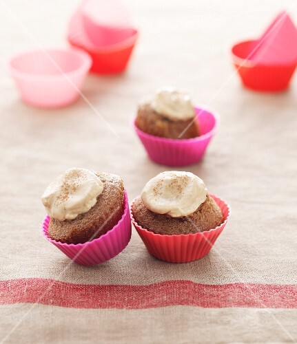 Cupcakes topped with coffee icing