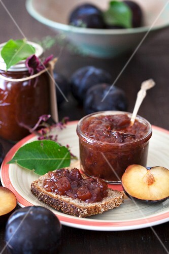 Plum Jam on Multi-Grain Toast