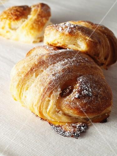 Apple and raisin croissants