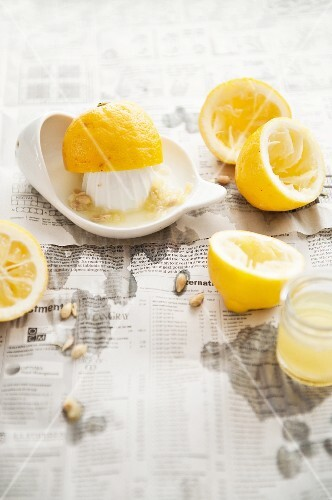 Squeezed lemon halves