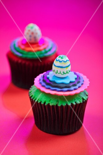 Colorful Easter Cupcakes