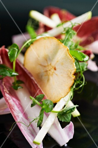 Apple salad with radicchio
