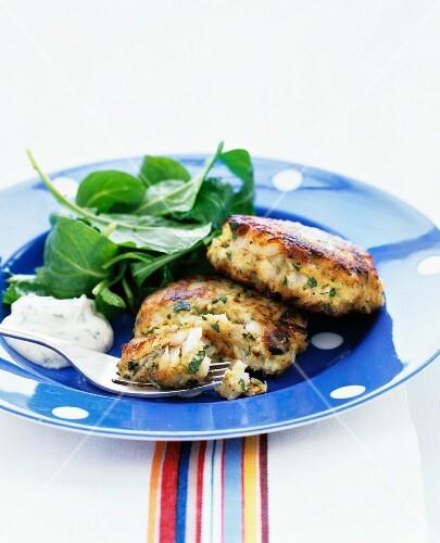 Lemon-parsley fish cakes