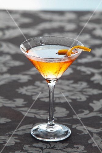 A Manhattan with whiskey