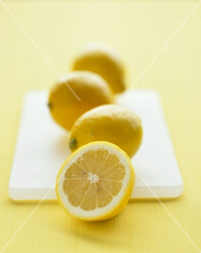Three whole lemons and one half lemon