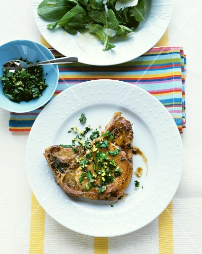 Pork chop with gremolata