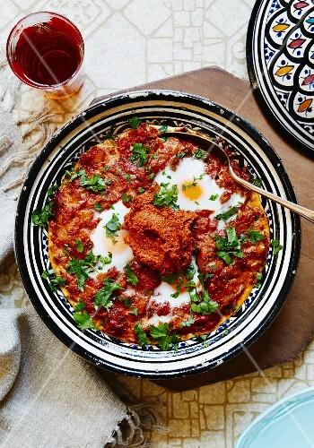 Shakshouka (egg and tomato dish, North Africa)