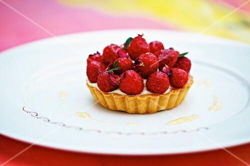 Raspberry tartlet