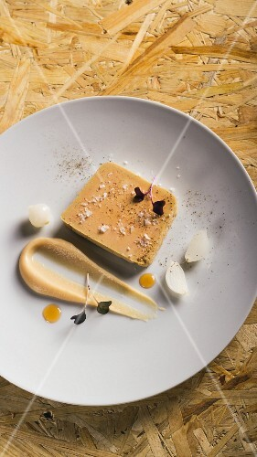 Sauteed duck liver with fennel chicory and quince puree