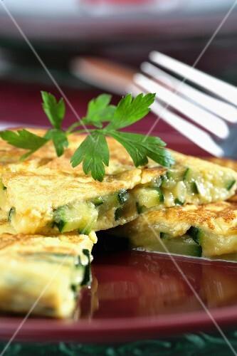 Aubergines omelette