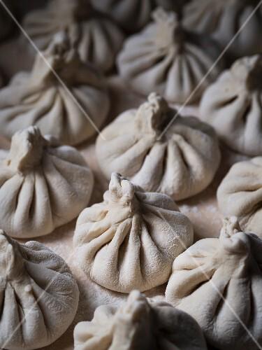 Georgian cuisine – raw meat dumpling called khinkhali.