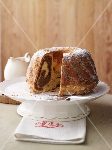 Potica (nut roll, Slovenia) with icing sugar