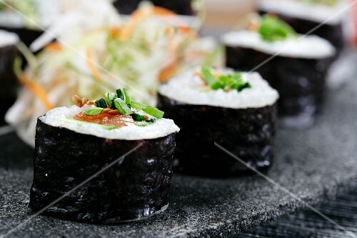 Nori Maki with salmon and avocado