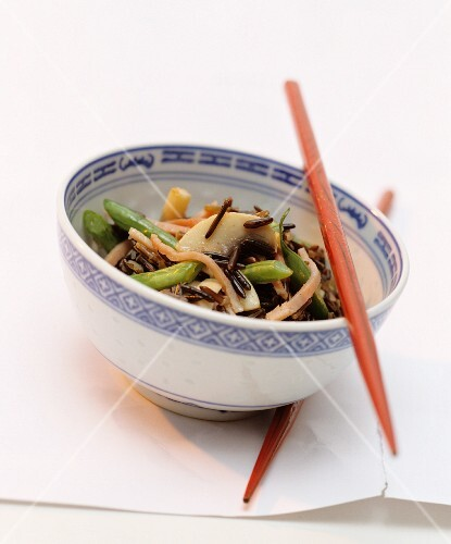 Wild rice with vegetables (China)