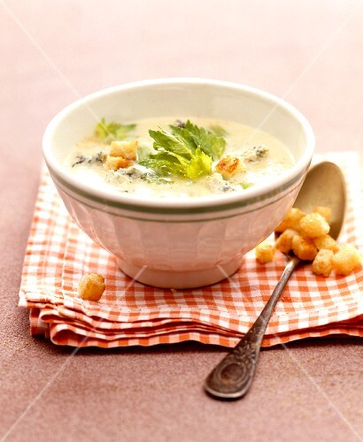 Fish soup with croutons