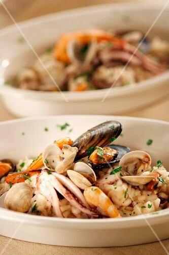 Rice in Pescatora style, Italy