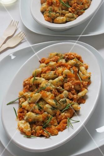 Gnocchetti pasta in Rabbit sauce, Italy