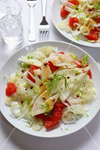 Salad of fennels and grapefruit, Italy