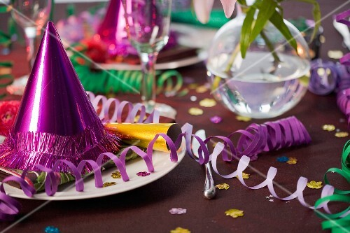 Table laid for a party.