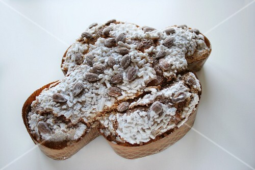 Italian Easter cake in form of a dove, Colomba Pasquale, Italy