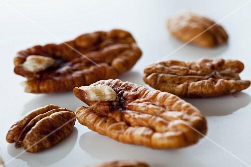 Pecan nuts, close-up