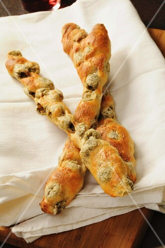 Pane alle olive, traditional italian olives bread, Italy, Europe