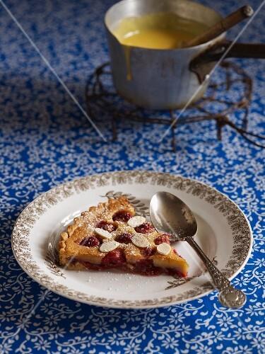 Bakewell Tart (almond cake with cherries, England)