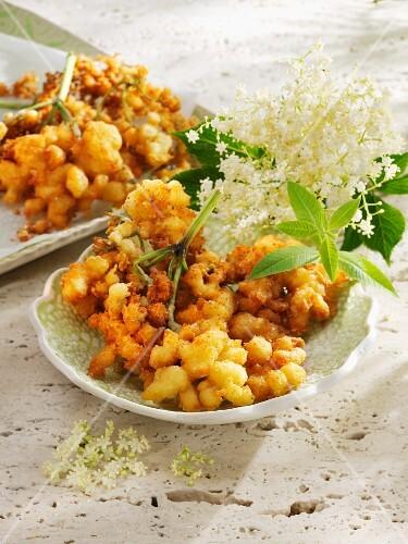 Elderflower fritter