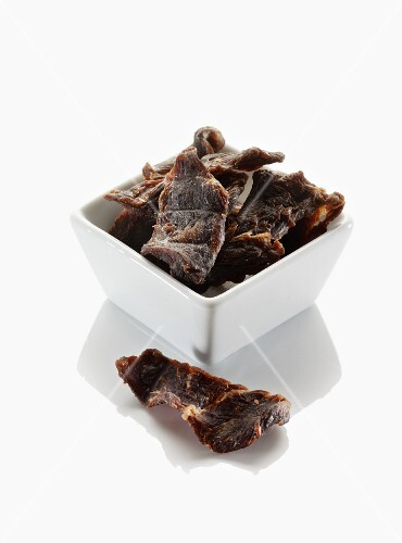 Dried beef in a bowl