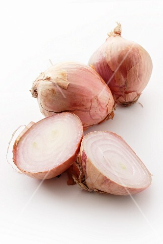 Three pink onions